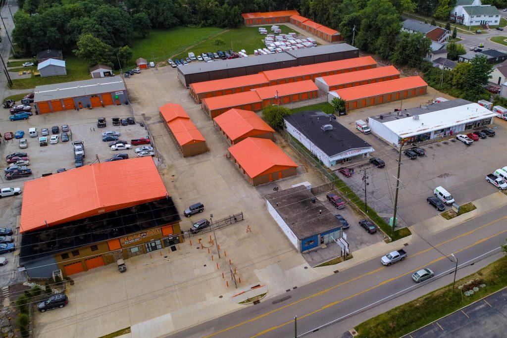 Aerial view of Bloomington Affordable Self Storage