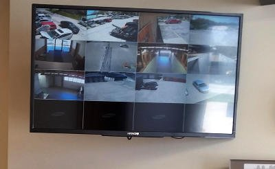 Security Cameras and TV Monitors
