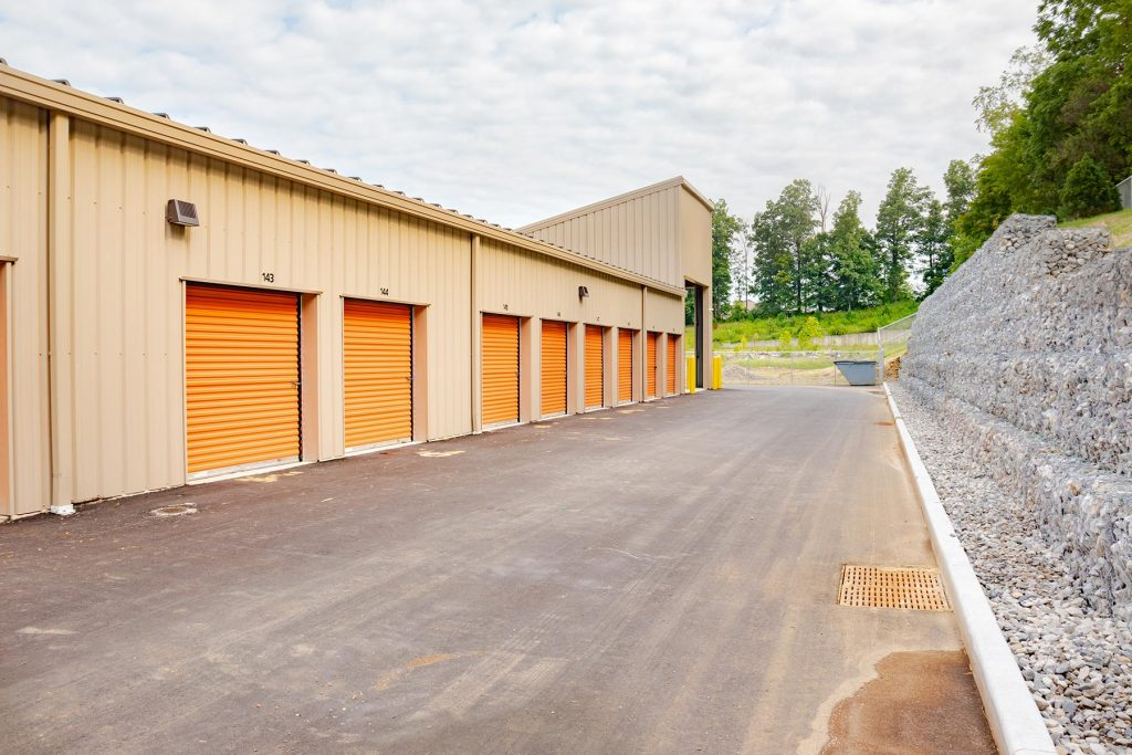 The backside of storage facility in Ellettsville